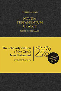 Novum Testamentum Graece (28th ed.) with Dictionary